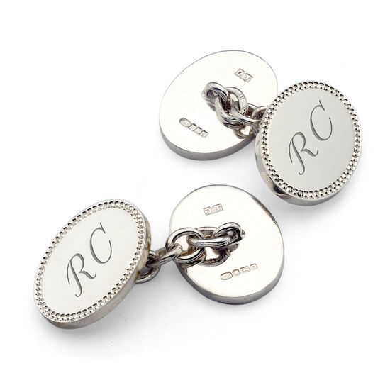 Classic Hobnail Sterling Silver Cufflinks from Aspinal of London