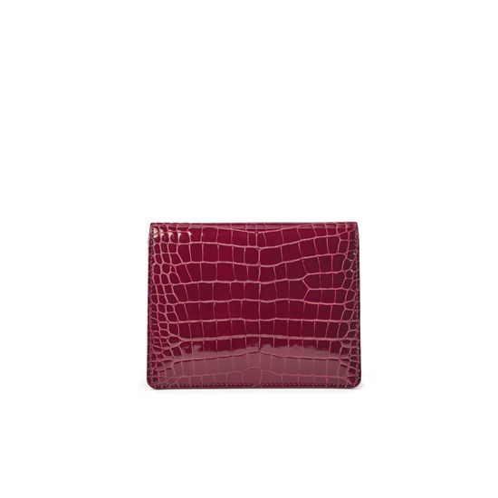 Small Ava Bag in Bordeaux Patent Croc from Aspinal of London
