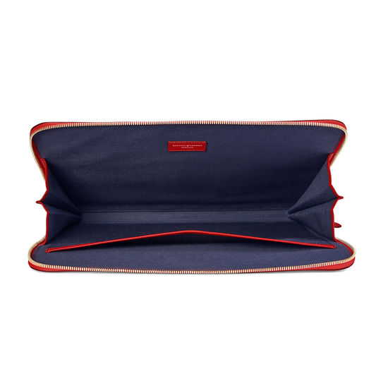City Laptop Folio in Scarlet Saffiano from Aspinal of London
