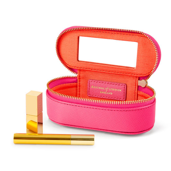 Handbag Tidy All in Bright Pink Saffiano from Aspinal of London