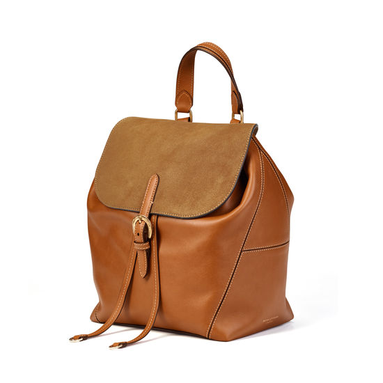 Equestrian Backpack in Smooth Tan from Aspinal of London